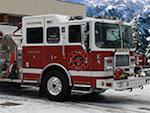 Hiver pompiers Camion