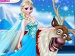 Rudolph e Elsa na Floresta congelada